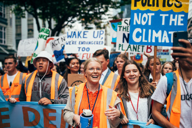 School Strike for Climate march led by Sophie Handford