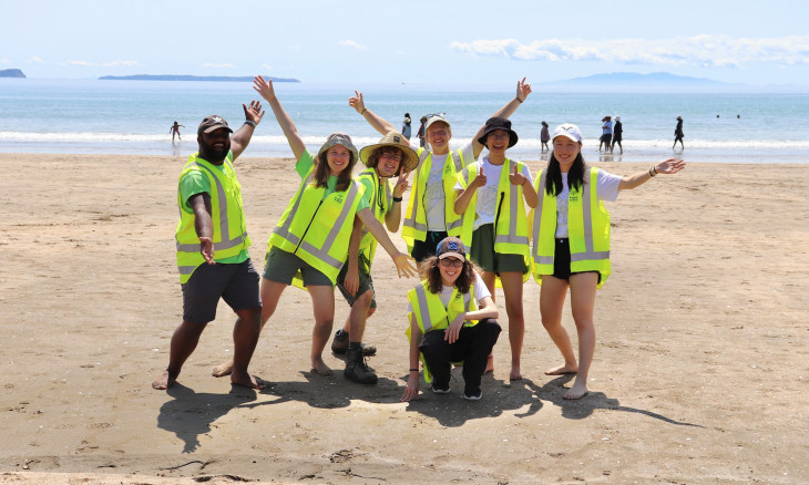Youth in Auckland involved in seabird event