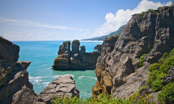 Pancake rocks at Paparoa National Park