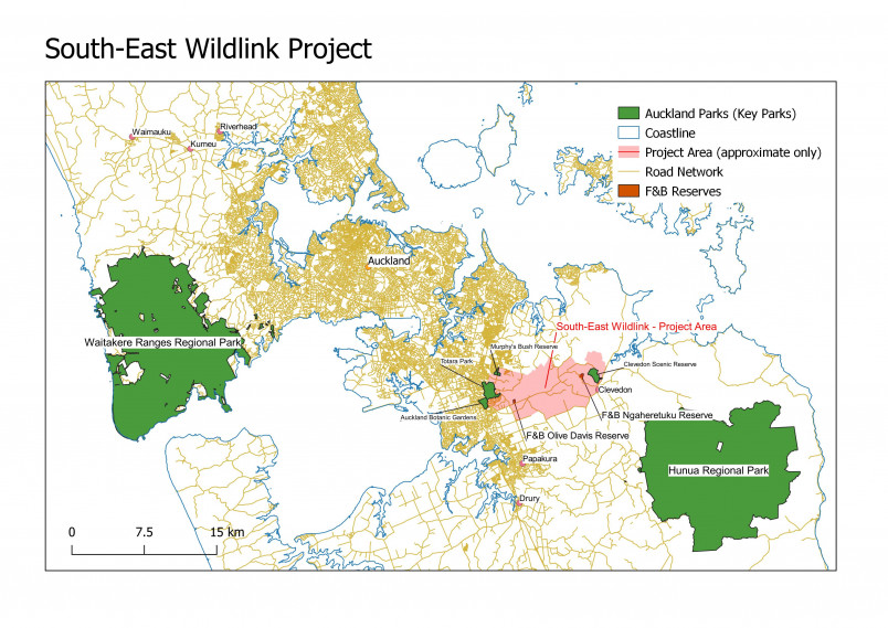South-east wildlink location map