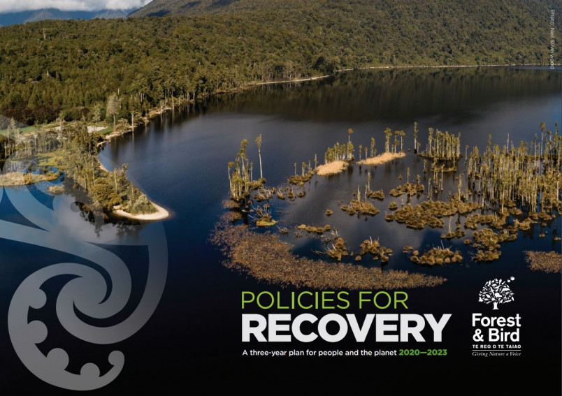 Policies for recovery document cover - Mt Te Kinga Scenic Reserve, Lake Brunner West Coast